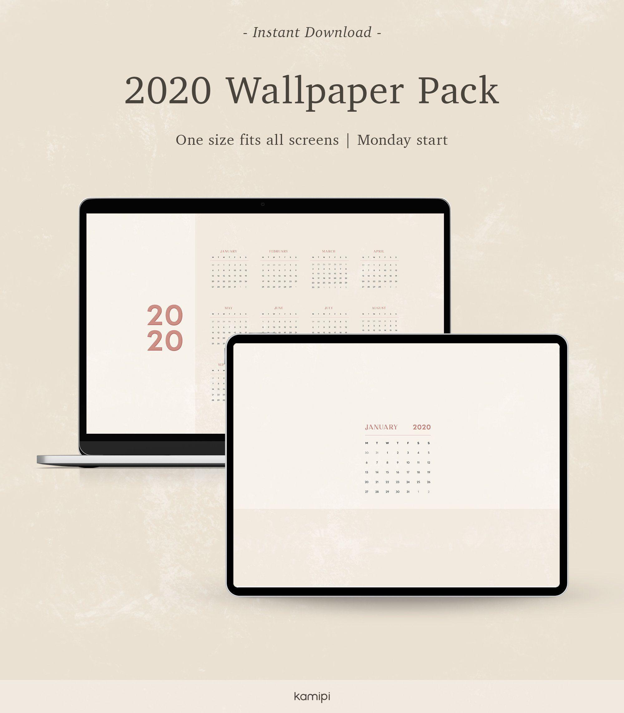 2020 Monthly Calendar Desktop Wallpaper Background Minimalist Neutral Calendar Wallpaper Instant Download In 2020 Desktop Wallpapers Backgrounds Desktop Wallpaper Calendar Calendar Wallpaper