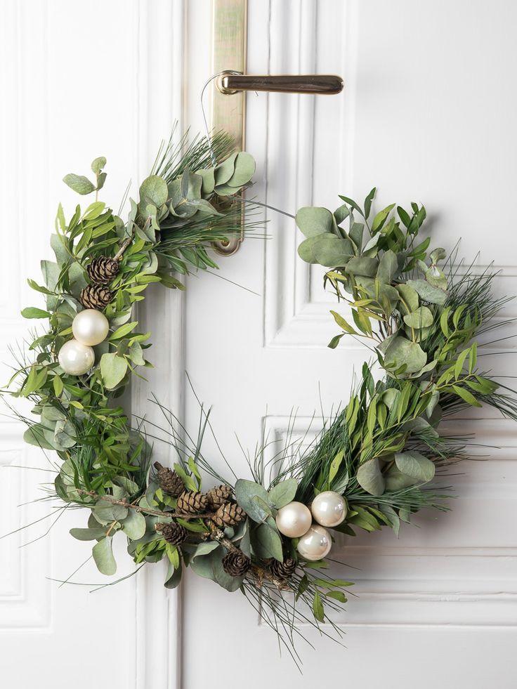 Skandinavischer Weihnachtskranz: Interior DIY -