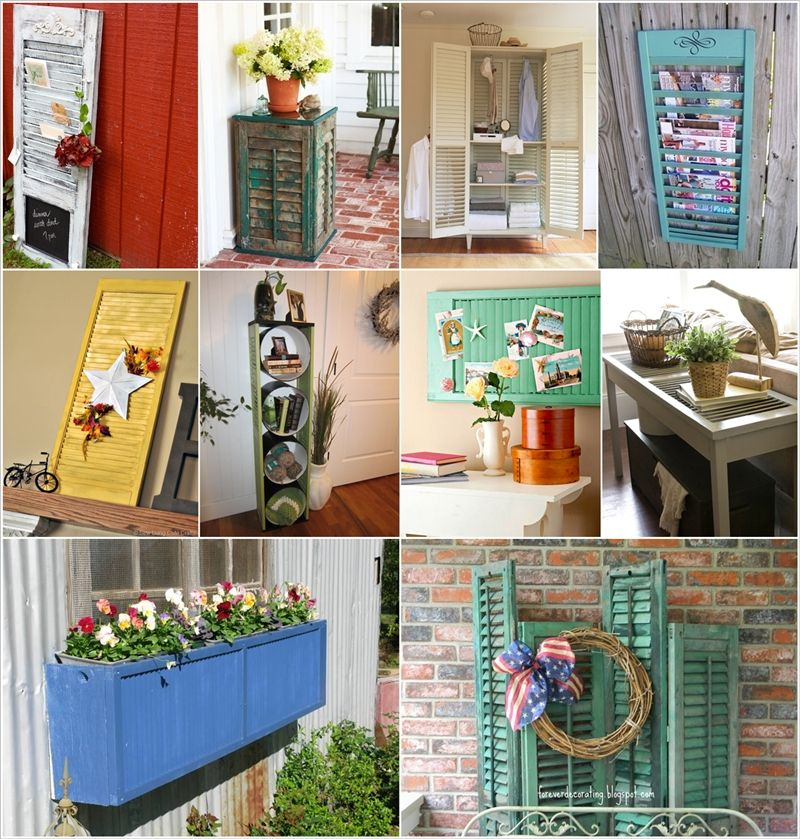 50 creative ideas to recycle old shutters for home decor for Creative home decorating ideas on a budget