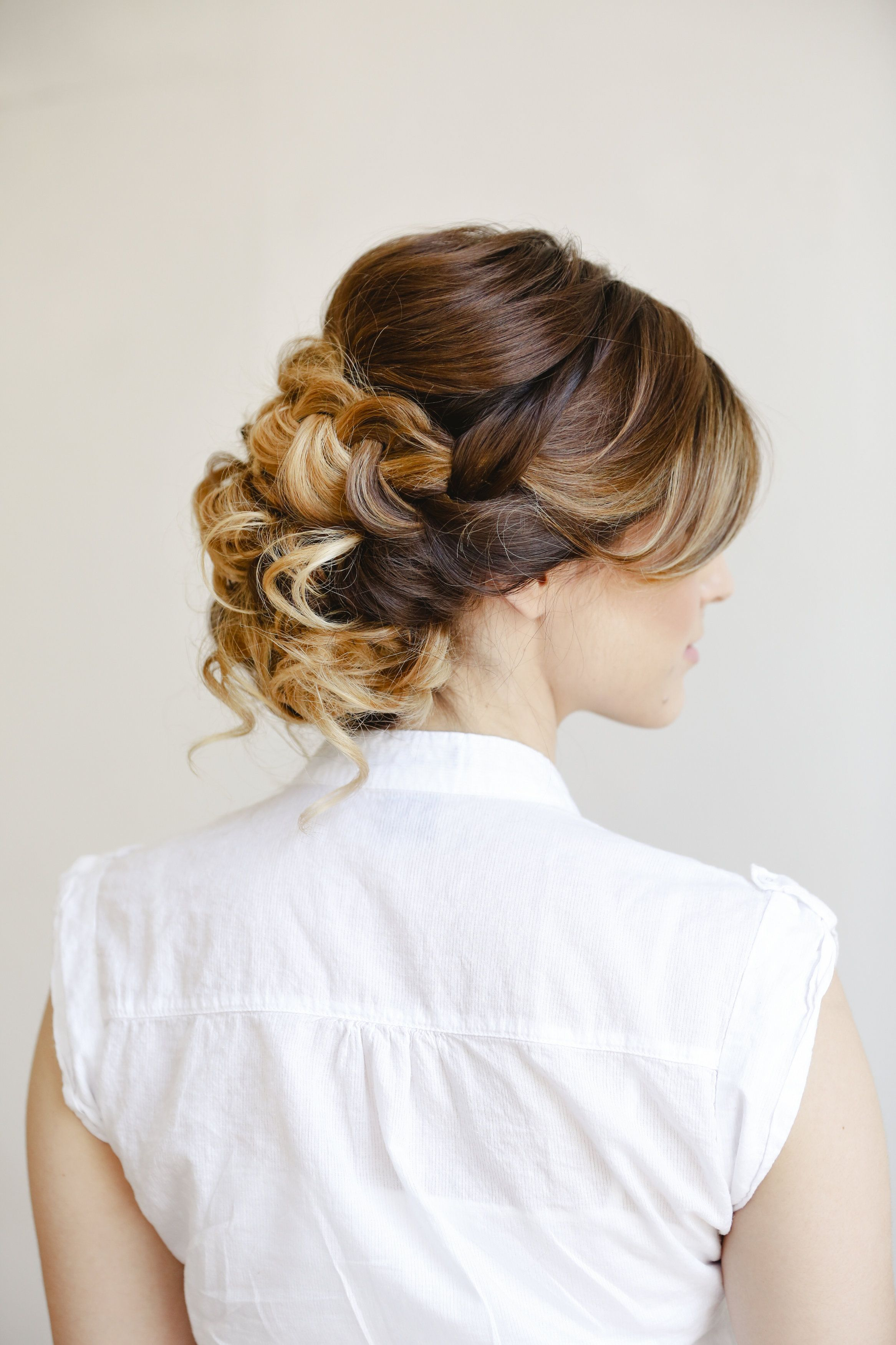 Braided wedding updo on ombre hair. Hair by Heather Chapman. Photo ...