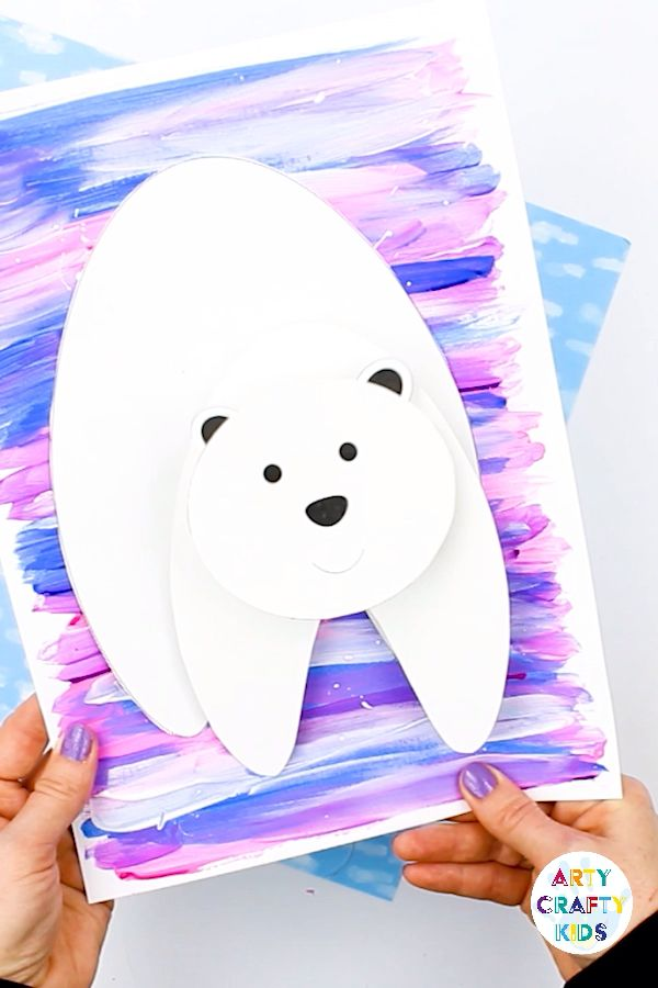 Polar Bear Winter Craft  #craft