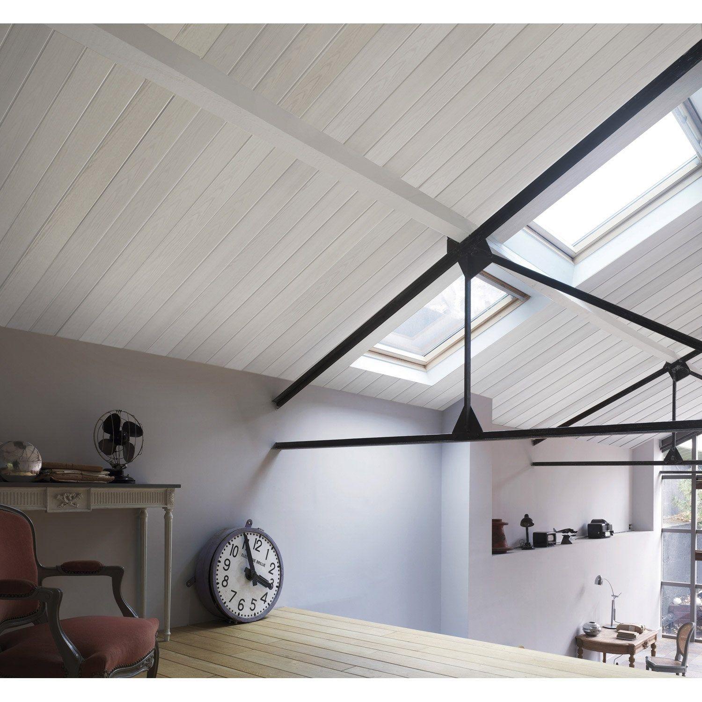 Lambris PVC bois fin blanc GROSFILLEX L.20 x l.20.20 cm x Ep.20 mm