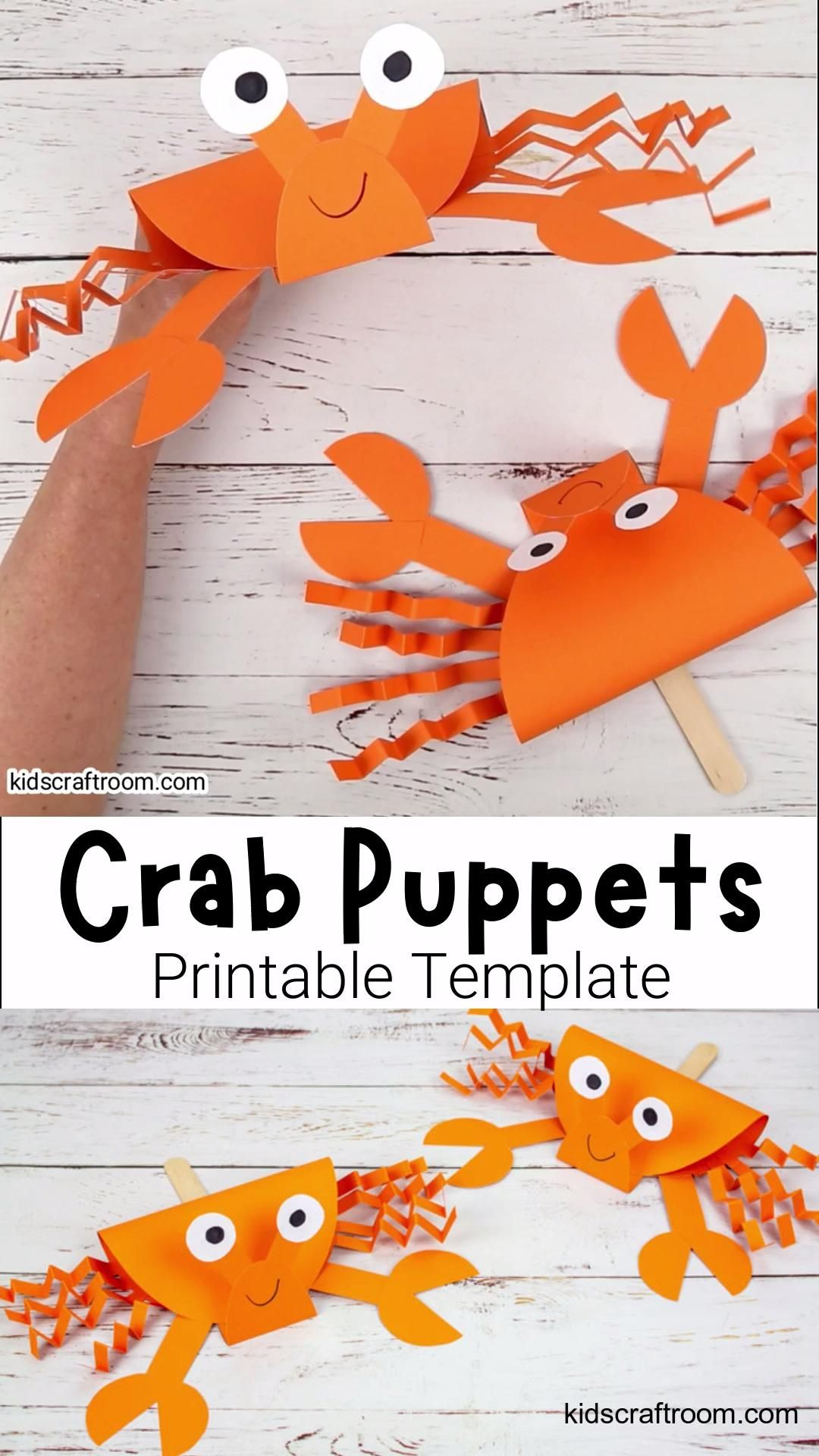 Adorable Crab Puppets
