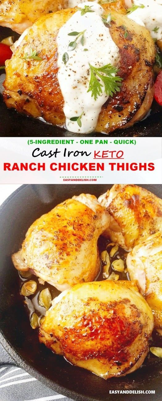 Cast Iron Keto Ranch Chicken Thighs images