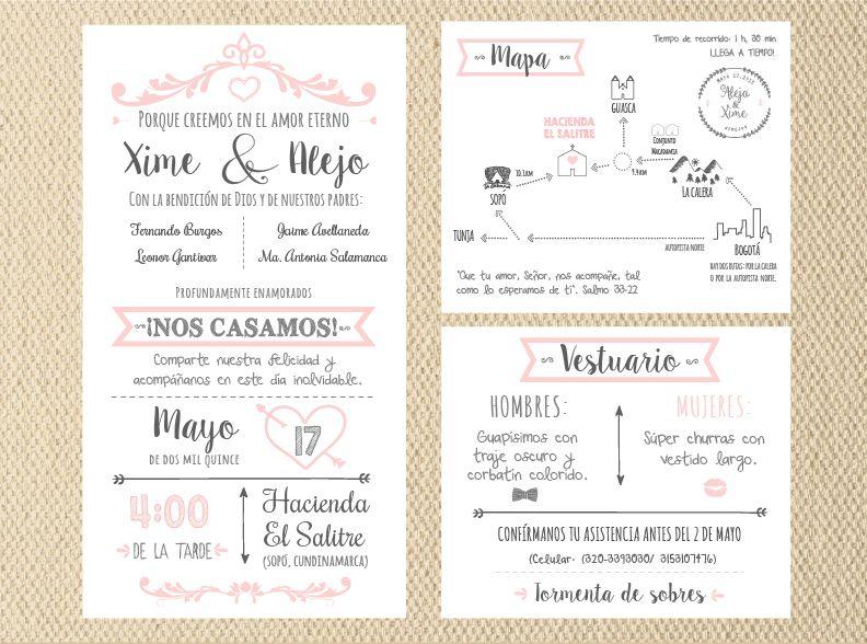 Uncuentodeboda Invitaciones De Matrimonio Invitaciones De