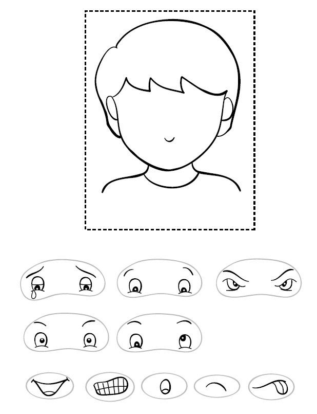 r6ubmp okulöncesi etkinlik Pinterest Activities - blank face template printable