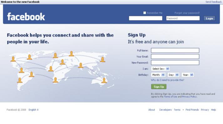 login to facebook homepage