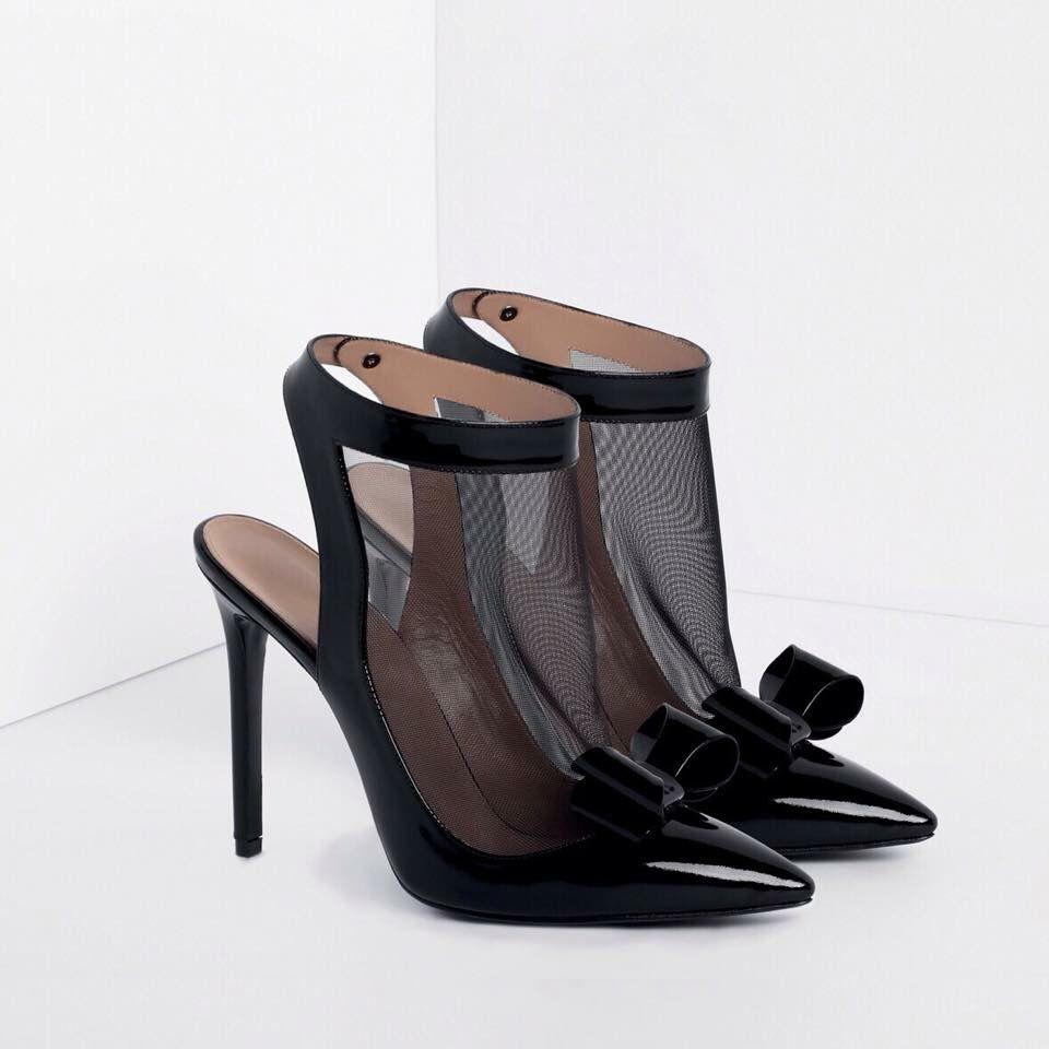 Wedding dress with black shoes  Bowed and Booted GEORGESHOBEIKA luxury shoes Enjoy RUSHWORLD