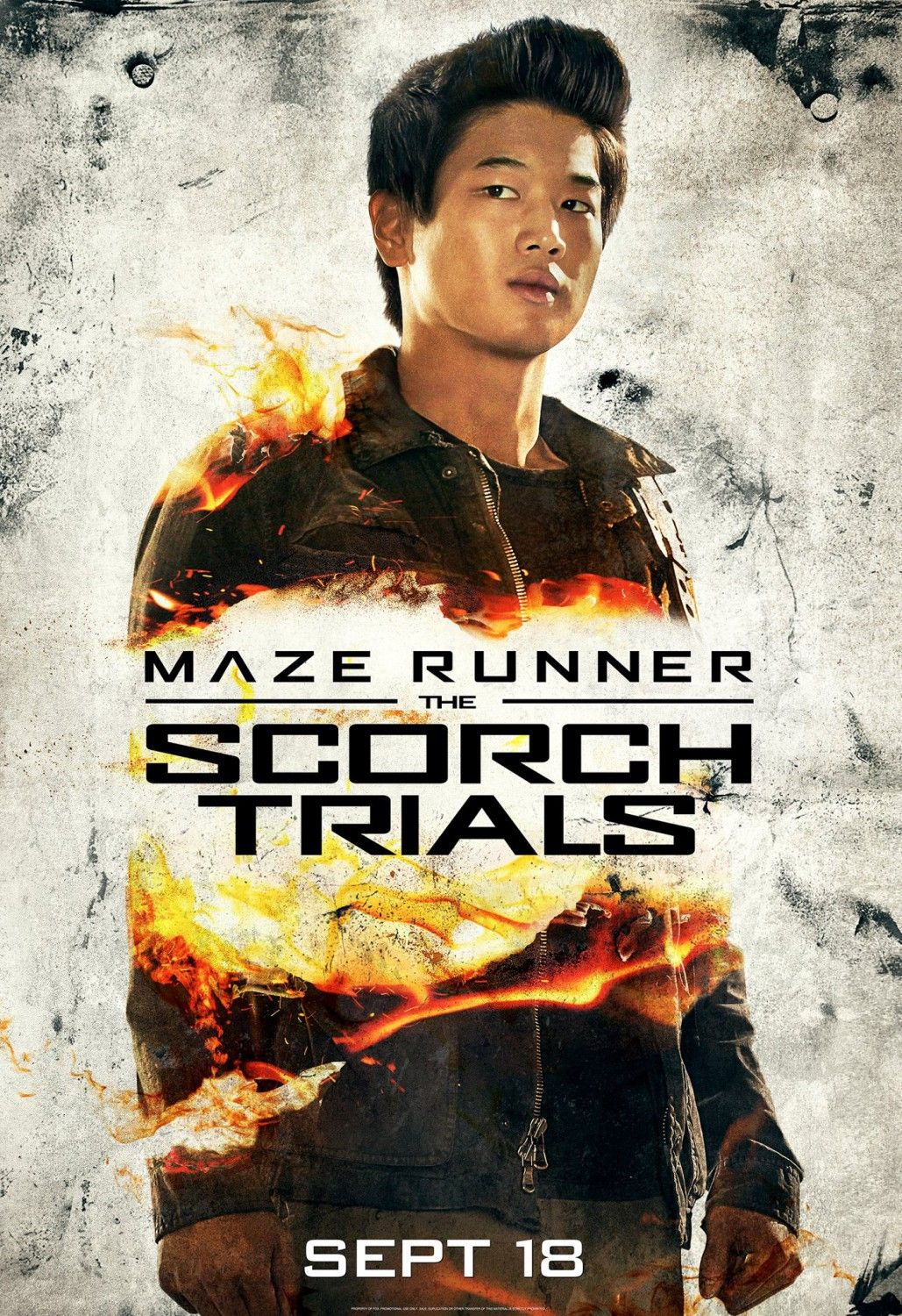 Ki Hong Lee - The Scorch Trials poster. Looking forward to this coming out. X