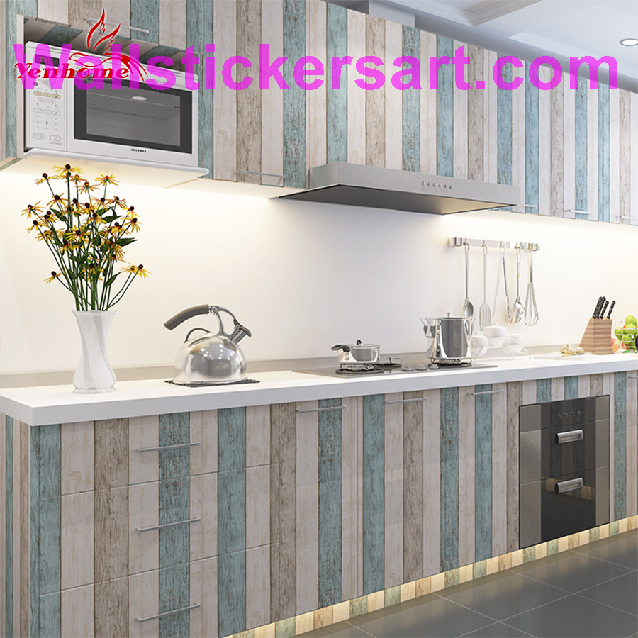 3m 5m 10m Waterproof Vinyl Wall Stickers Self Adhesive Wallpaper Roll Furniture Decorative Fi With Images Kitchen Cabinets Stickers Kitchen Cabinet Decals Kitchen Stickers