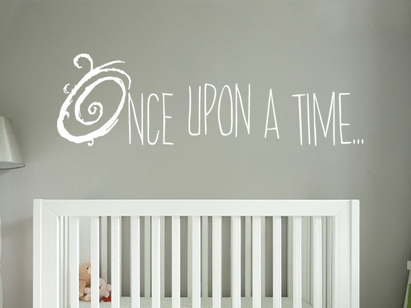 Once Upon A Time Wall Decal Storybook Nursery Decor Vinyl Wall - Vinyl wall decals books