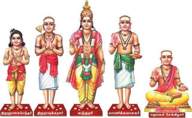The great Saiva Saints (from left) - Thirugnana Sambandar,  Thirunavukkararsar, Sundarar, Manickavasagar and Sekkizhar | Radha krishna  art, Hindu gods, Krishna art