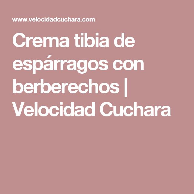 Crema tibia de espárragos con berberechos | Velocidad Cuchara