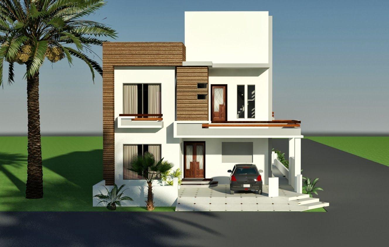 10 marla corner house plan design of tariq garden lahore for House front face design