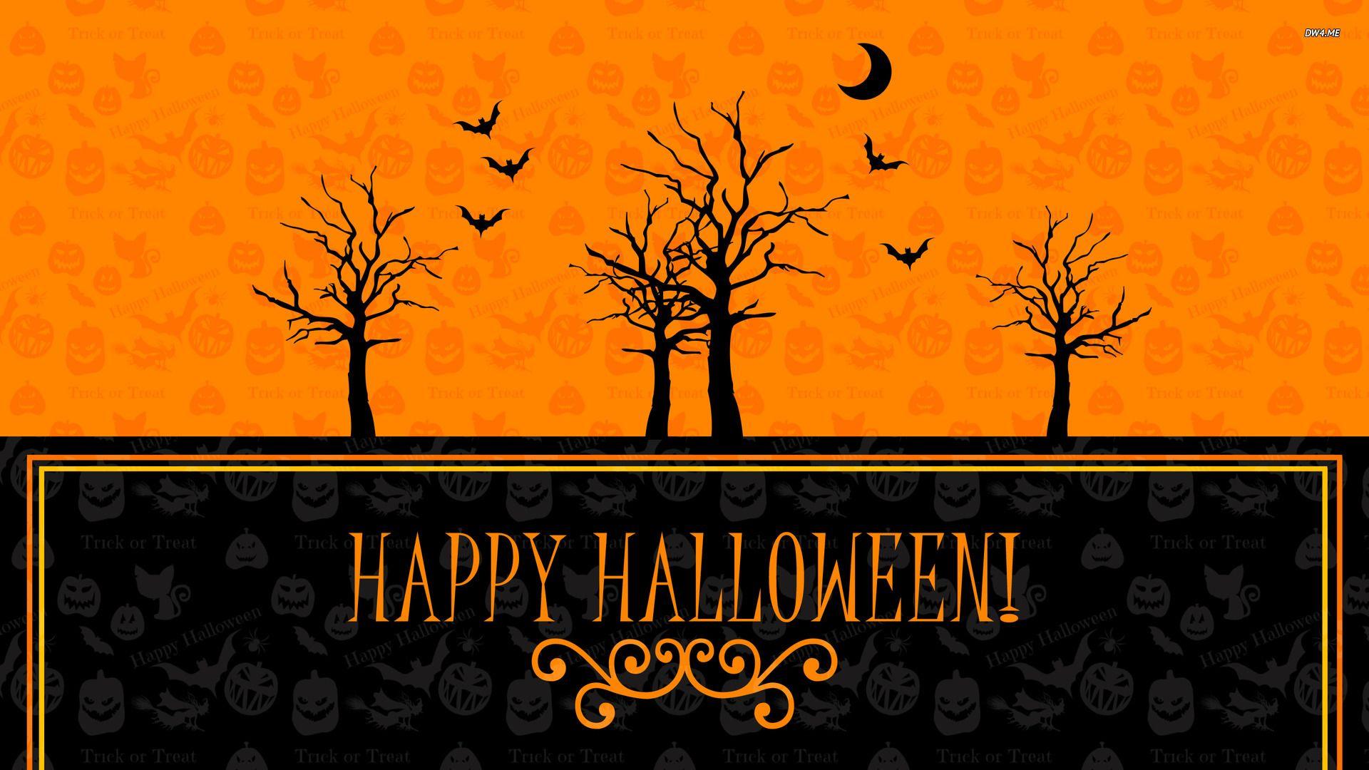 happy halloween holiday desktop wallpaper tree wallpaper halloween wallpaper bat wallpaper silhouette wallpaper holidays no - Desktop Wallpaper Halloween