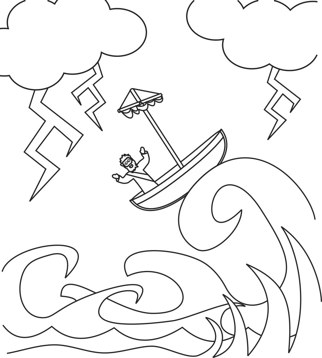 My Children's Curriculum: Jesus calms the storm coloring