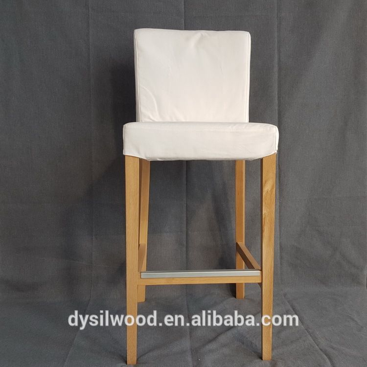 Hot sell western fabric bar stools wooden bar chairs kitchen