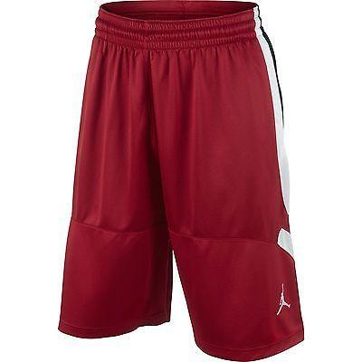 Nike Jordan Flight Basketball Shorts Mens 589163-696 White Red ... 90ed31d27