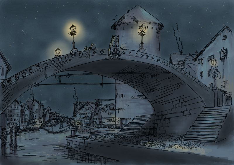Hippo bridge 'Pyramids' by Terry Pratchett