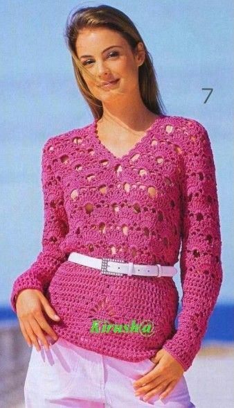 Tunique Fuschia New Crochet Pinterest Crochet Patterns And