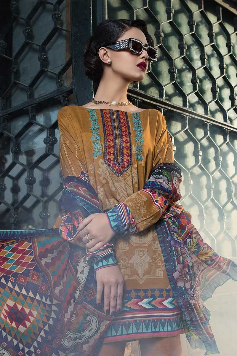 5ee4ba2d41 Latest Maria B Winter Printed Dresses 2018-2019 Lyallpur Collection  Pakistani Designer Suits, Pakistani