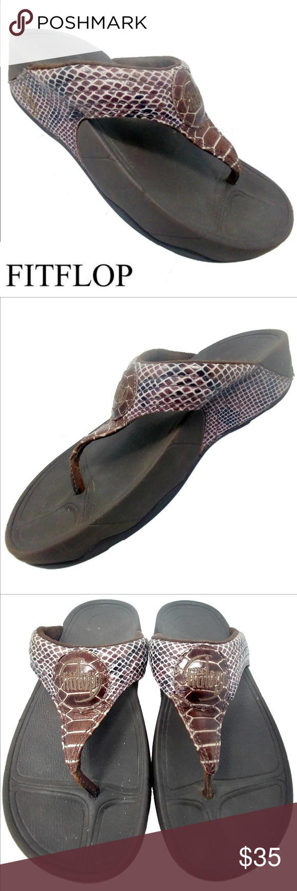 bb99d7f4d5dd FitFlop Walkstar 3 Snake Print Sandals Sepia Sz 5 FitFlop 036-066 Walkstar  brown snake toning sandal. Super cute and very comfy. WOMEN S SIZE  US 5 EU  36 ...