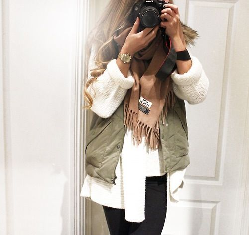 Love the rolled up sleeves and vest