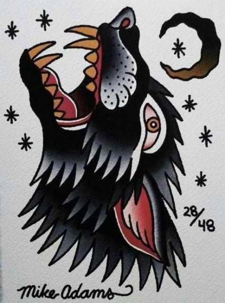 48 Trendy Tattoo Wolf Old School Design Ink