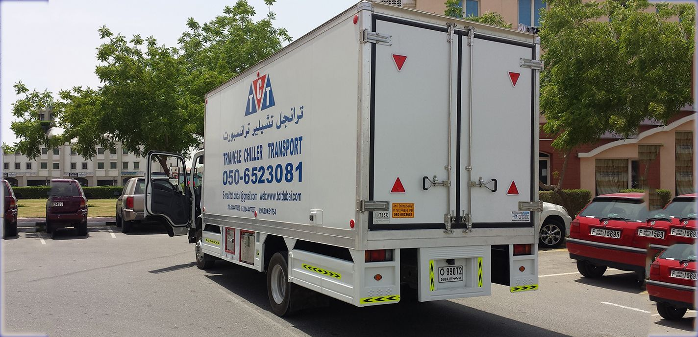 Triangle Chiller Transport Dubai Have Best Refrigerated Chiller Vehicles In U A E Available For Rent At Transportation Companies In Dubai Transport Companies