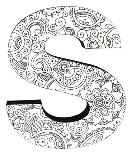 Color Joy 55530 Large Block Letter S Wall Hanging Letters You Can Find More Details By Visiting The Doodle Art Letters Mandala Design Art Mandala Art Lesson