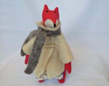 Stuffed fox doll , Red Fox toy , Organic stuffed fox , Organic stuffed animals , Waldorf fox toy , Handmade fox toy , Plush fox , Red fox