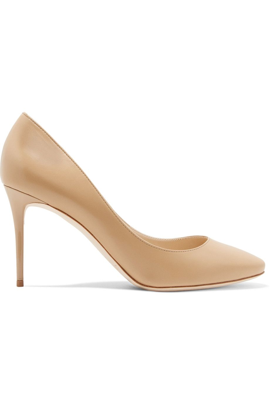 Jimmy Choo Nude Romy 85 Patent Leather Pumps in Natural