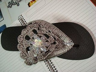 Crocheted Flip Flops