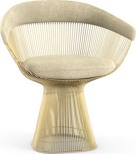 Platner Gold Arm Chair Platner Chair Warren Platner Chair