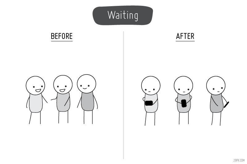 Before And After Cell Phones Waiting Cell Phone Reviews Vintage Funny Quotes Cell Phone Shop