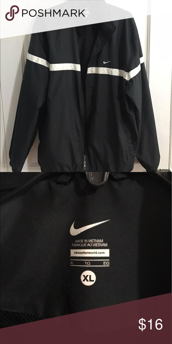 8d091fb1e241 Men s Nike Windbreaker Black with white details