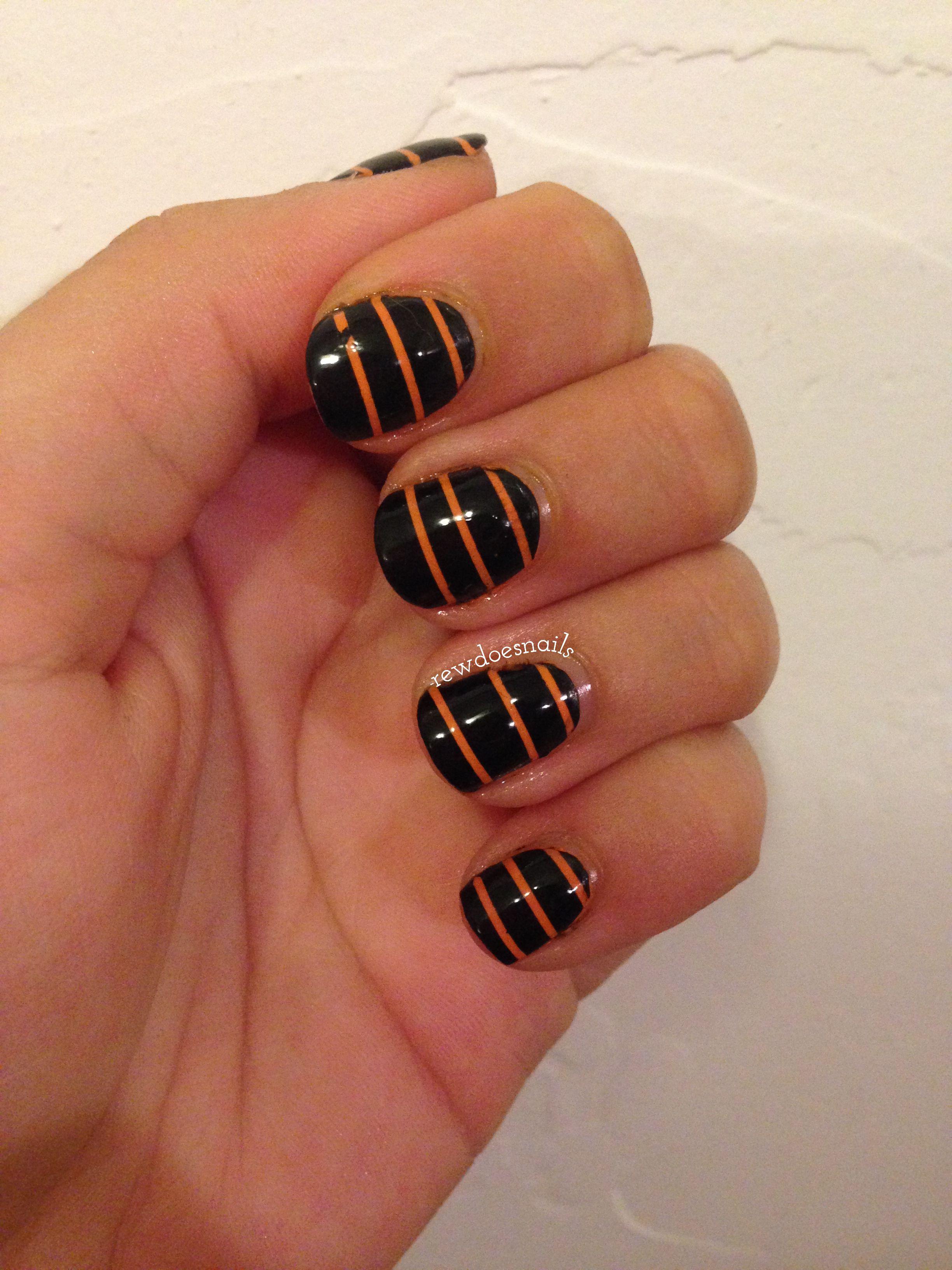 Halloween Nail Art Challenge 7. Oktober – Muster   – Beautification