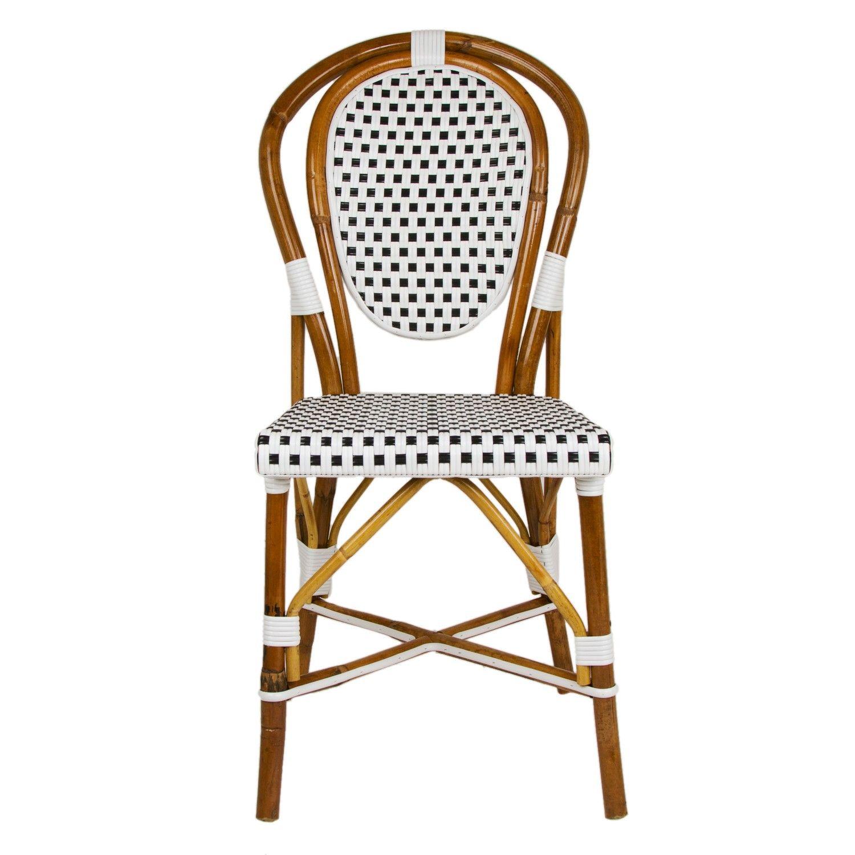 White Black Mediterranean Bistro Chair Bistro Chairs French Bistro Chairs Bistro Furniture