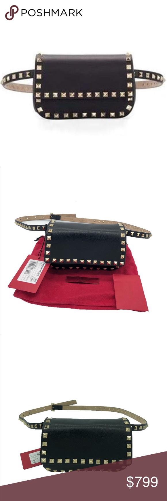 2890f4410 Valentino Rockstud Waist Bag Fanny Pack Valentino Garavani leather waist bag  with signature Rockstud trim.