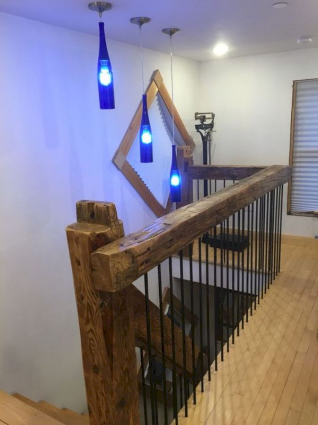 Best 16 Diy Home Decor Ideas With Glass Bottles Rustic Stairs 400 x 300