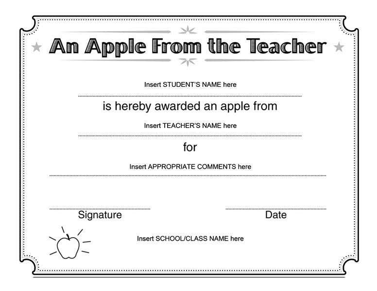 Apple from teacher award certificate templates office apple from teacher award certificate templates office yadclub Gallery
