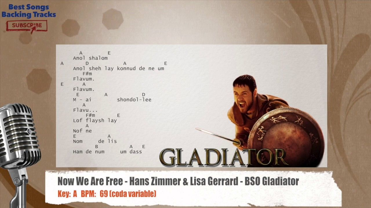 Now We Are Free - Hans Zimmer & Lisa Gerrard - BSO Gladiator Vocal ...