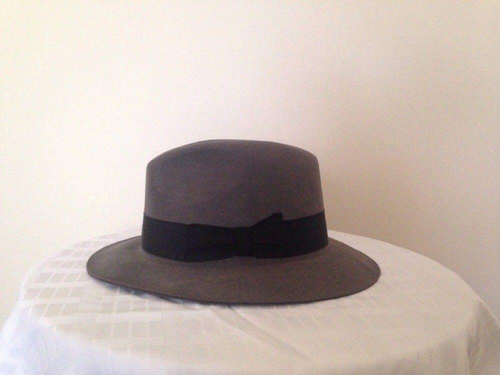 e6e49e911938d Vintage fedora hat mens borsalino gray deedy size 7-1 2