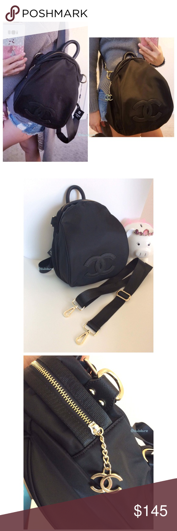 183d8733b0db Authentic Chanel VIP Gift Backpack Crossbody Bag Authentic 2017 Chanel VIP  GIFT from Asia. This cute backpack comes with extra strap so you can use as  a ...