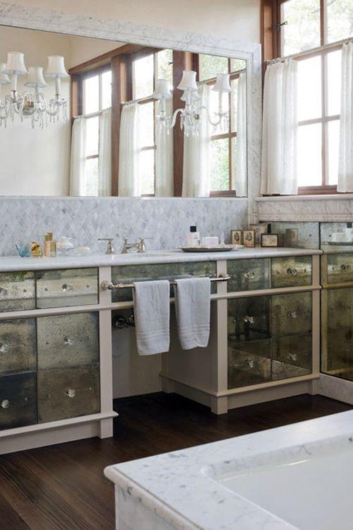 Add Some Luxury To Ur Bathrooms Antique Mirror Tiles Mirror Tiles - Bathroom mirror with wall sconces