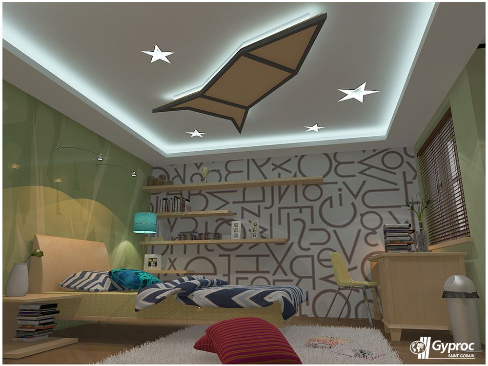 Let Your Kid S Wake Up To This Innovative Coloured Falseceiling Visit Www Gyproc In Ceiling