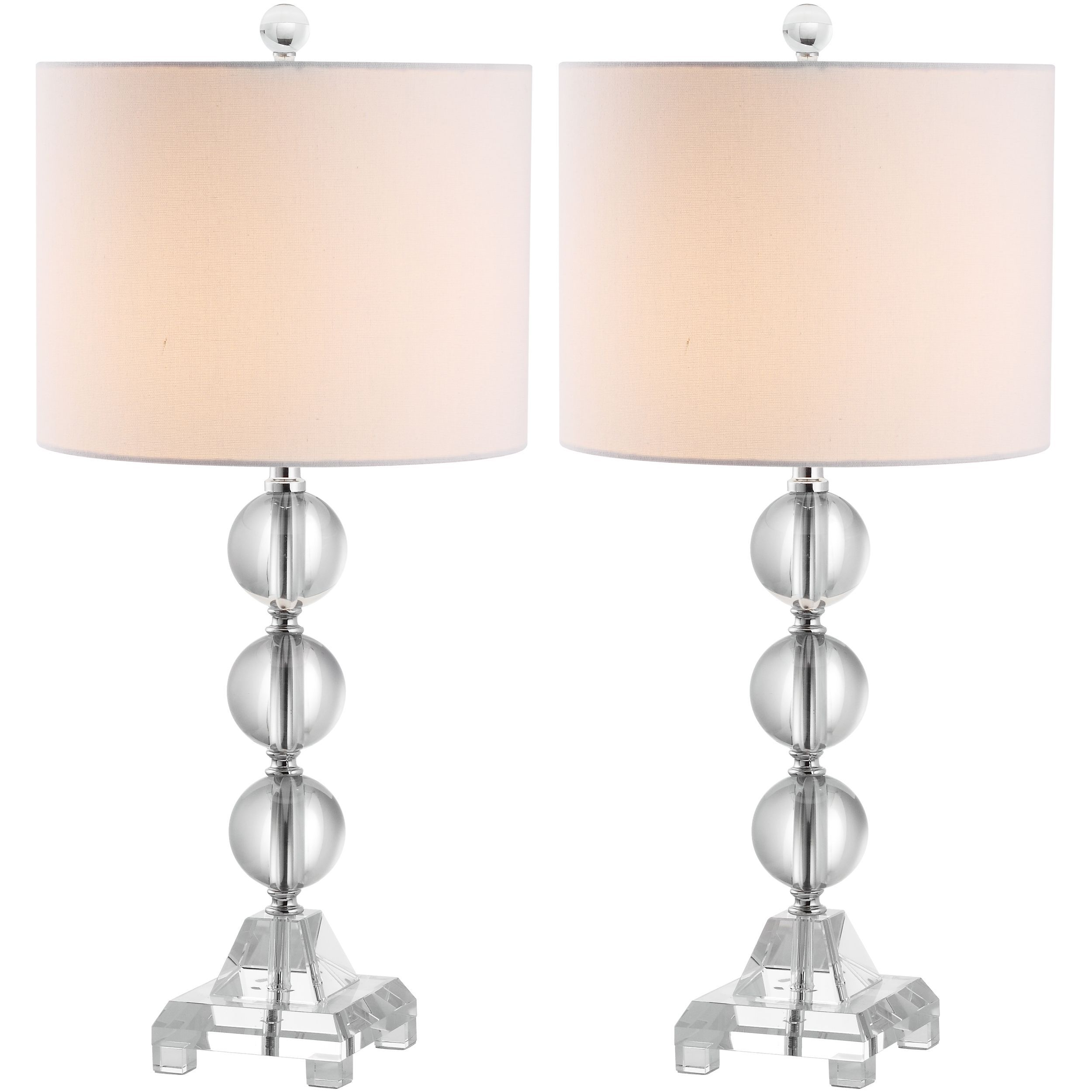 Clearly dramatic the fiona stacked crystal ball lamps add clearly dramatic the fiona stacked crystal ball lamps add transparent beauty to living room mozeypictures Choice Image