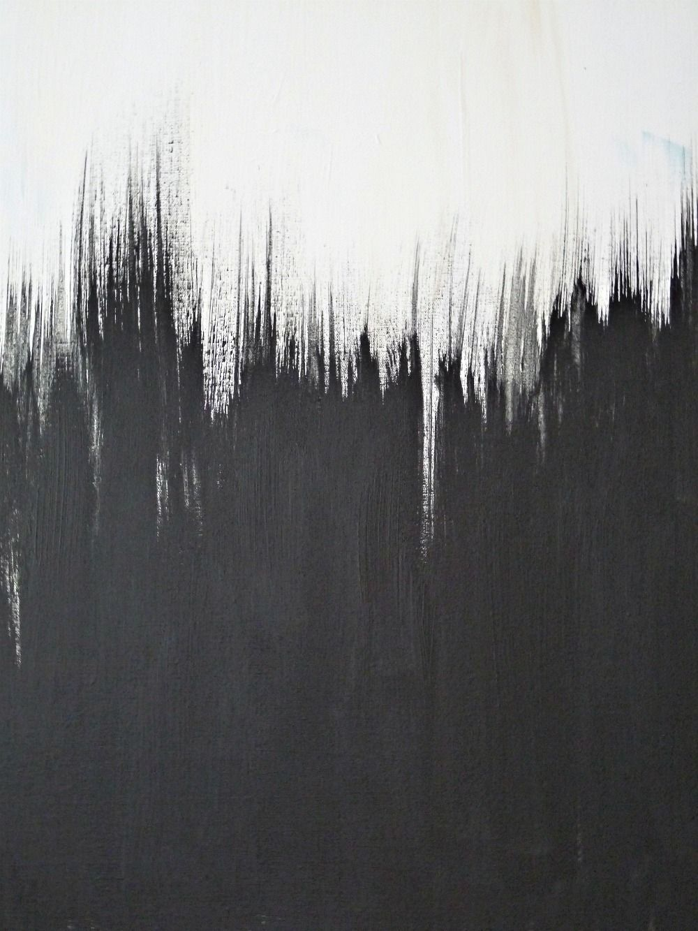 simple but striking, black + white diy abstract painting   pinterest