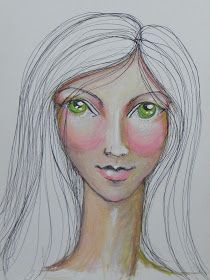 ...for the inspiration ♥   Jane Davenport                               I've used Prismacolor pencils on Br istol Smooth paper and watercolo...