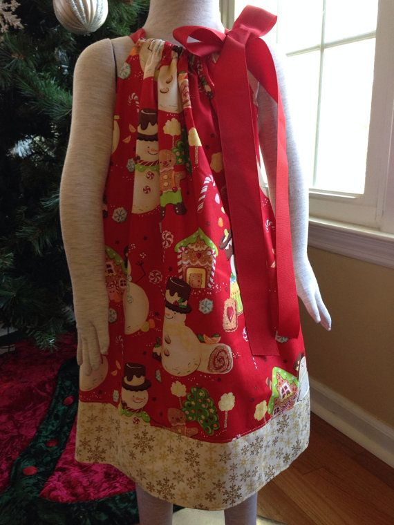 Size 4t.....Snowman Christmas Dress.....Made and by LevonaDanielle